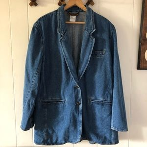 Vintage Denim Oversized Blazer